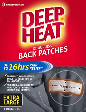 Deep Heat Back Patches 2pk