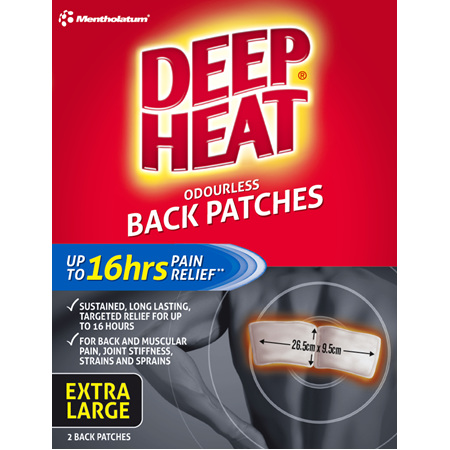 Deep Heat Back Patches 2pk