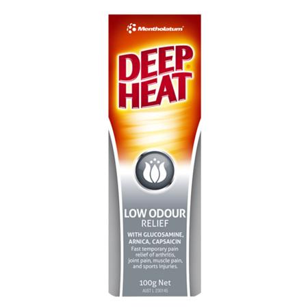 Deep Heat Low Odour Relief Cream 100G