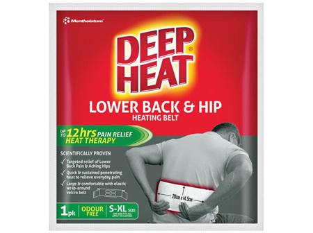 Deep Heat Lower Back & Hip Heating Belt 1 Pack