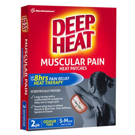Deep Heat Muscular Pain Heat Patches, 2 Pack