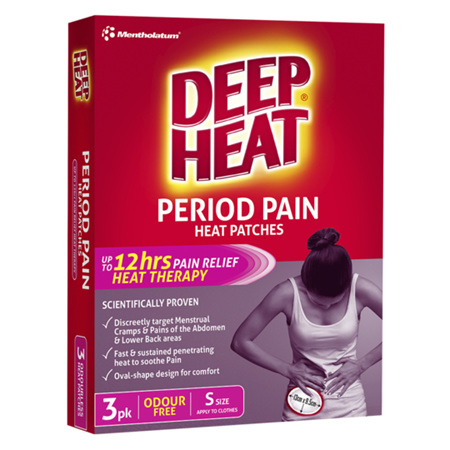 Deep Heat Period Pain Heat Patches, 3 Pack