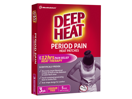 Deep Heat Period Pain Patches 3 Pack
