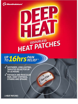 Deep Heat Regular Patches 2pk