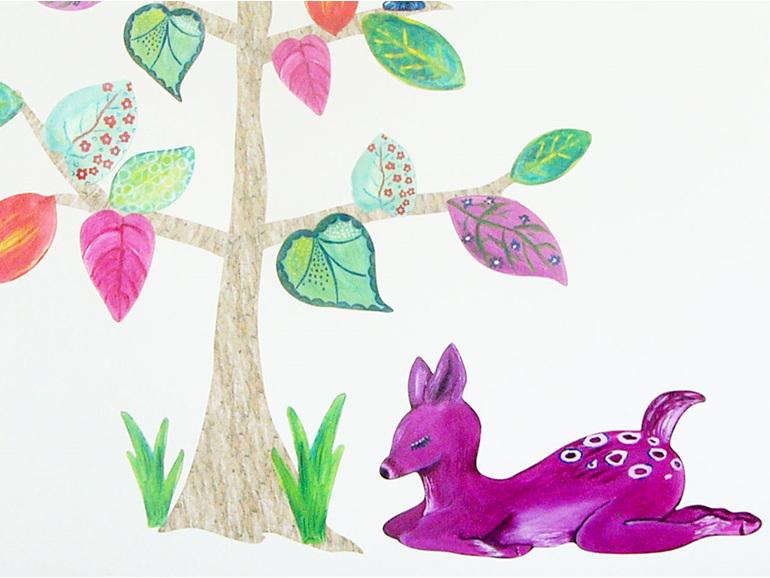 Deer Deer Tree wall decal