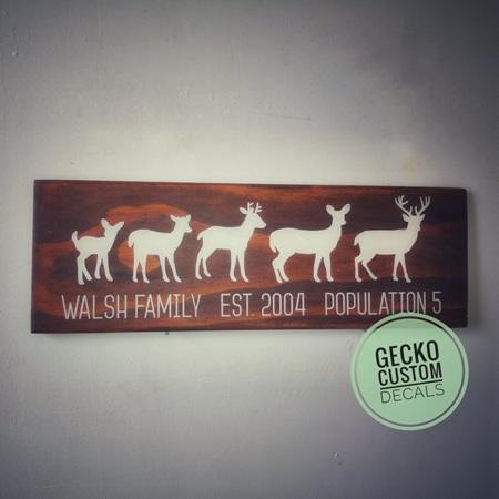 Deer Family Sign