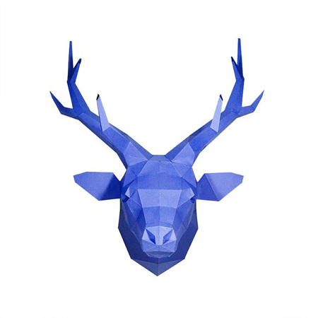 Deer Head - Blue
