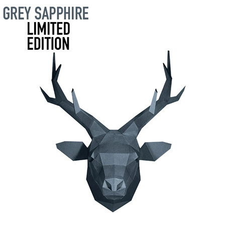 Deer Head - limited edition grey sapphire