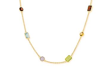Delicate Coloured Stone Necklace