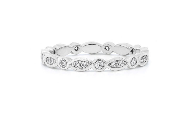 Delicate Diamond Shaped Wedding Band