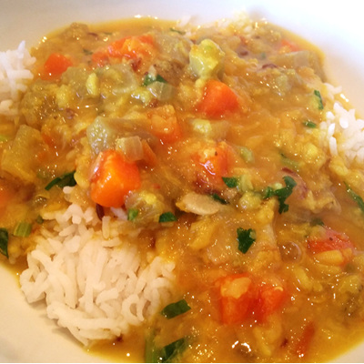 Delicious Dahl with Rice