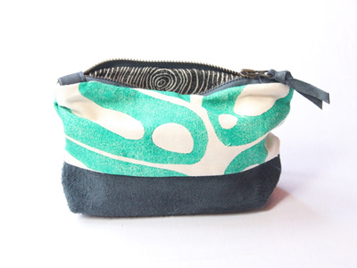 Delicious Monster Pouch with Leather Detail