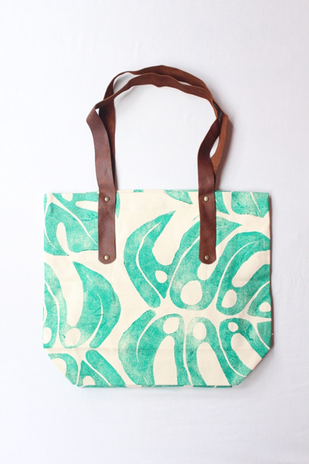 Delicious Monster Tote with Leather Handle