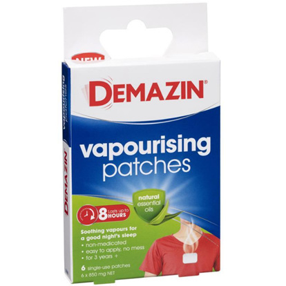 DEMAZIN VAPORISING PATCHES 8HR RELIEF 6