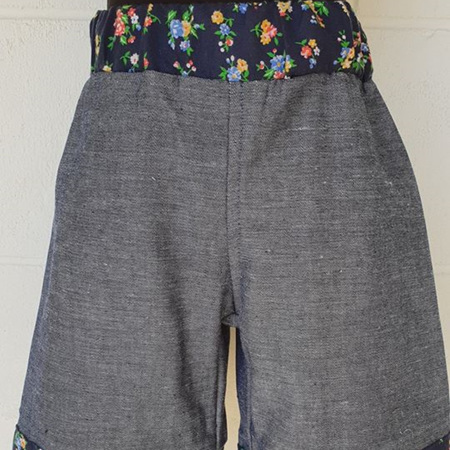 Denim/Floral Shorts Size 3
