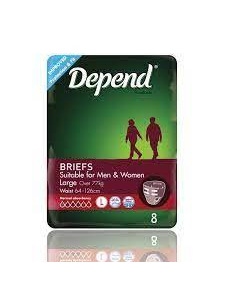 DEPEND Fitted Briefs Large 8