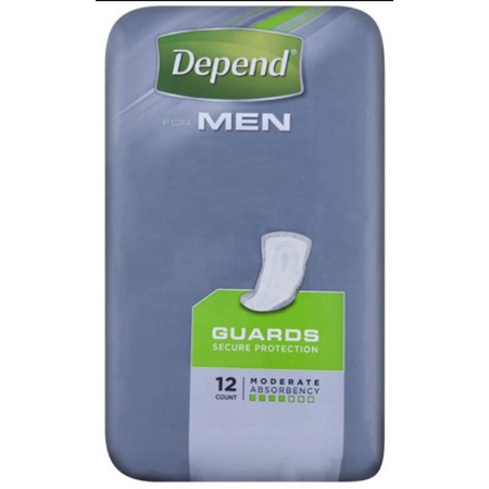 DEPEND INCONTINENCE MEN GUARDS 12'S