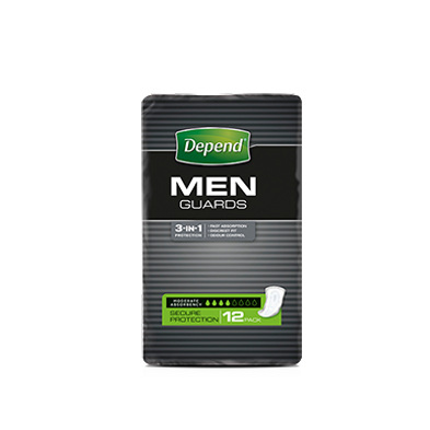 DEPEND MALE GUARDS 12 PACK