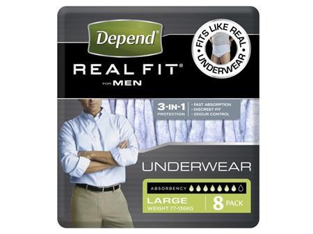 DEPEND Realfit Men Large 8