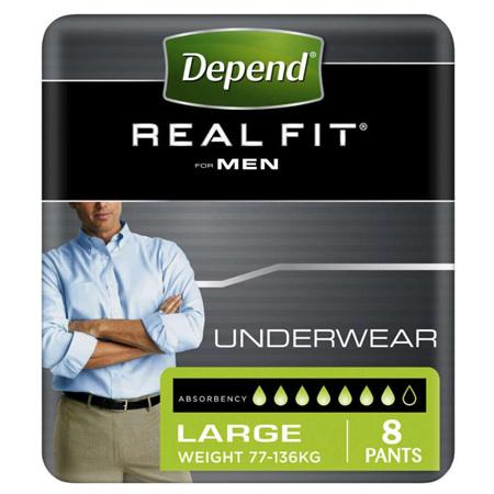 DEPEND REALFIT UNDERWEAR MEN (L) 8pk