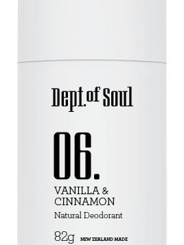 Dept of Soul Deodorant Stick 06 Vanilla & Cinnamon