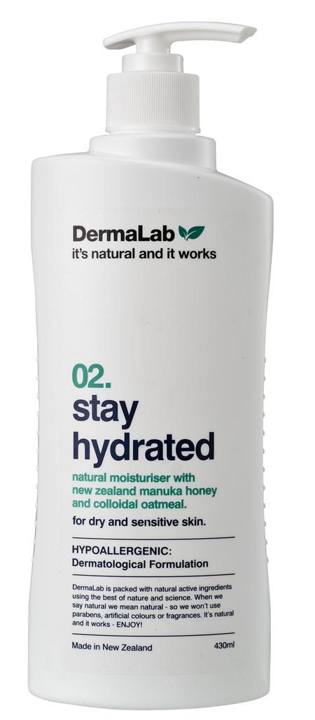 DERMALAB Stay Hydrated Moisturiser 430ML