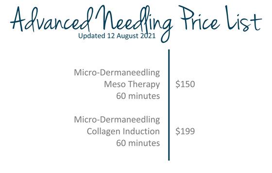 Dermaneedling price list