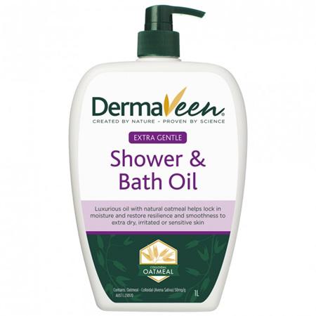 DermaVeen Extra Gentle Shower and Bath Oil 1L