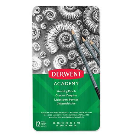 Derwent Academy Sketching Pencils - Tin 12