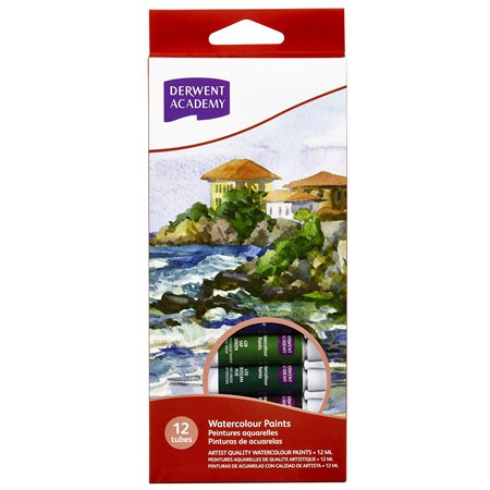 Derwent Academy Watercolour Paint 12ml - Pack 12