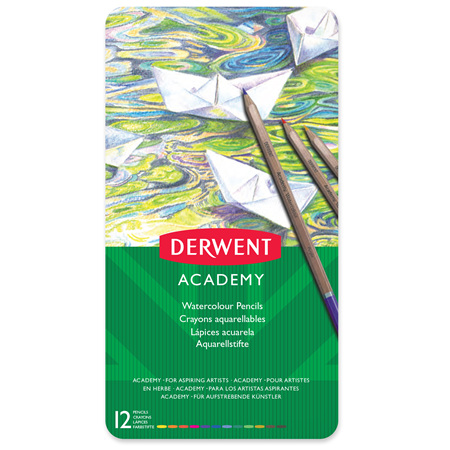 Derwent Academy Watercolour Pencils - Tin 12