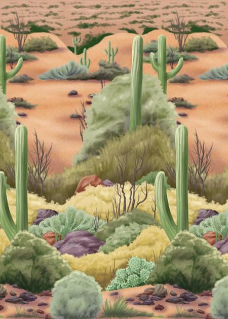 Desert Flora - Room Roll Scene Setter