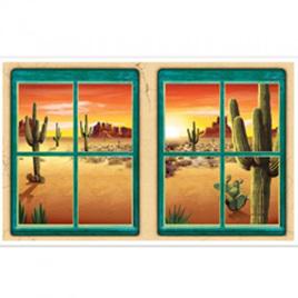 Desert window view