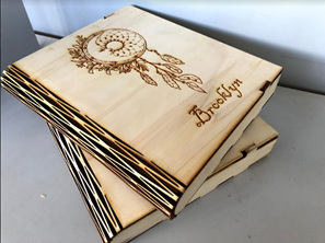 Designed Wooden Book Box