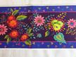 Designer Ribbon - Enchanted Flowers on Purple - Printed Velvet Border