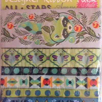 Designer Ribbon Pack - Tula Pink - All Stars Agave