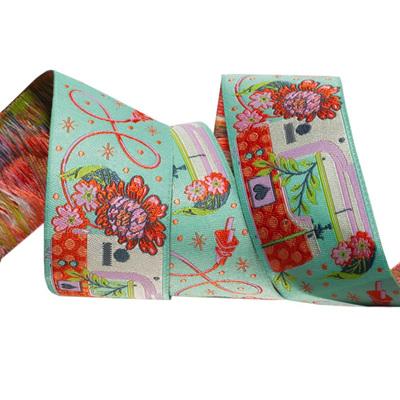Designer Ribbon - Tula Pink - HandMade - Pedal to the Metal Morning Green