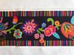 Designer Ribbon - Wide Fleury & Stripes on Black - Printed Velvet Border