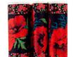 Designer Ribbon - Wide Poppies on Black - Printed Velvet Border