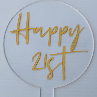 Designer Toppers - HAPPY 21ST