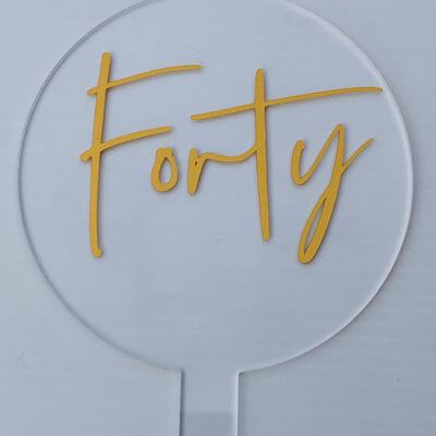 Designer Toppers -   Numbers Range/  FORTY/FIFTY