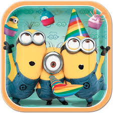 Despicable Me 2 Lunch Plates x 8
