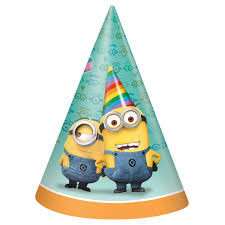 Despicable Me 2 Party Cone Hats pack of 8