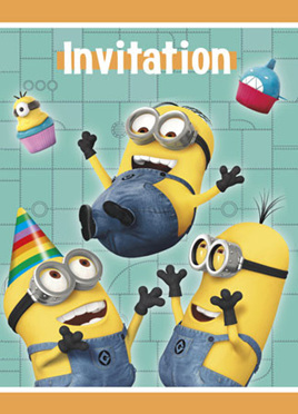 Despicable Me 2 Party Invitations pack of 8