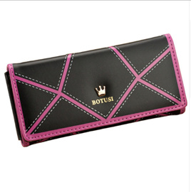 Detail Long Wallet - BLACK & HOT PINK