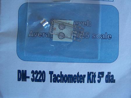 "Detail Master Photo-Etch Tachometer Kit 5"" dia."