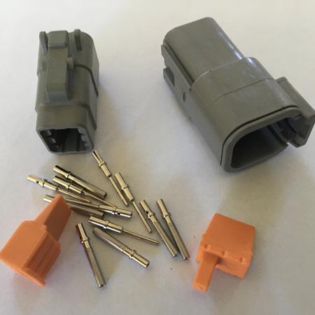 Deutsch DTM 6 way combination kit
