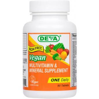 Deva Vegan Multivitamin Iron Free 90 tabs