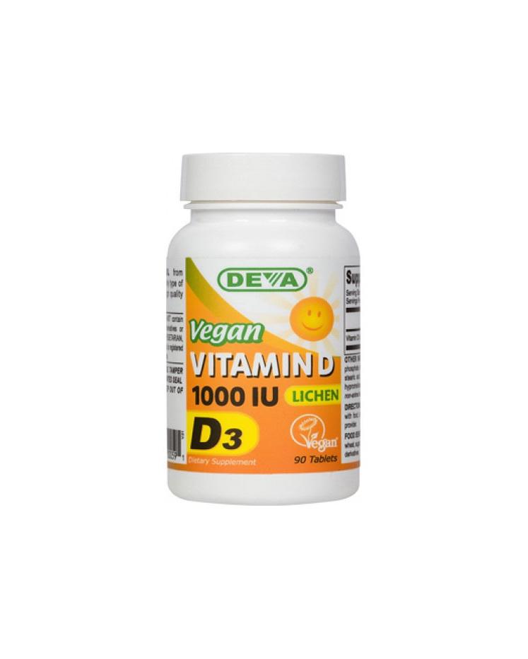 Deva Vegan Vitamin D3 1000IU