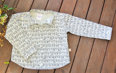 'Devon' Shirt/blouse, 'Summer town' 100% Cotton, 3 years